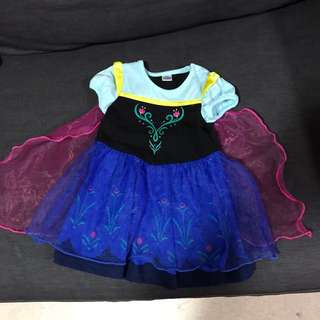 Authentic Disney baby Anna dress - lightly Used