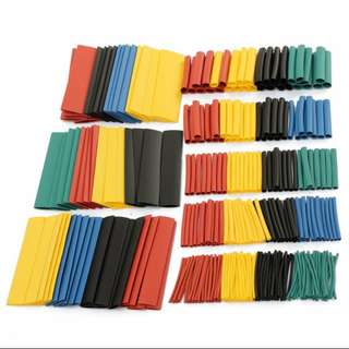 328pcs 2 : 1 Polyolefin Halogen-Free Heat Shrink Tube Sleeving 5 Color 8 Size