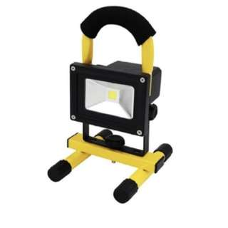 10W Portable Cordless LED Work Light Rechargeable Led Flood Light for Outdoor Camping White