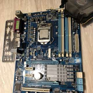 Gigabyte GA Z68P-DS3 motherboard with i5-2500 processor LGA 1155