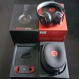 Beats Solo 2 Wired On-Ear Headphone  (Black)