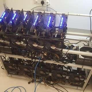 6 to 8 GPU Low Power & High Performance Mining Rig