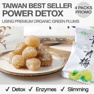 4 packs Detox Enzyme Green Plum