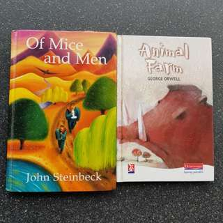 School Literature Book- Animal Farm, Of Mice and Men