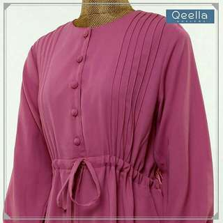 Gamis edelweiss DW Pink L by Qeella Moslema