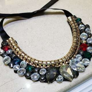 Kalung Fashion Permata / Fashion Necklace Bling Bling