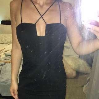 Bardot midi length dress