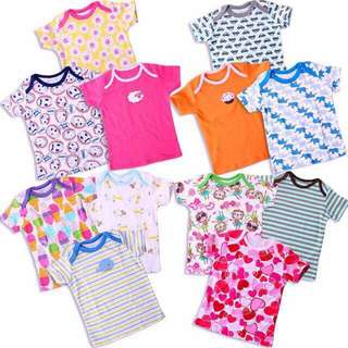 Carter 5pcs Baby Shirt (Boy&Girl) Short Sleeve