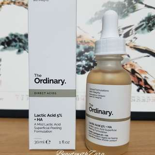 Authentic The Ordinary Lactic Acid 5% + HA