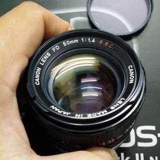 Lens Canon FD 50mm f1.4 S.S.C