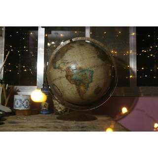 """Antique Replogle 12"""" Diameter Globe"""