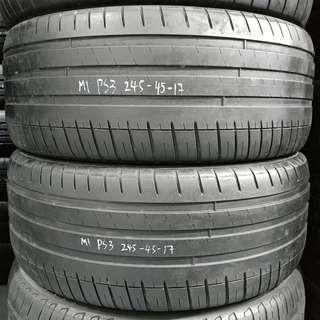 2454517 MICHELIN 米芝蓮 PS3 二手車呔 一對 80%NEW