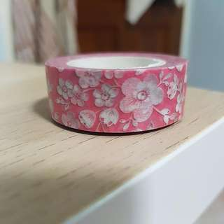 Pink Based Flower Washi Tape