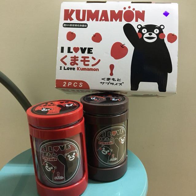 全新❤️熊本熊玻璃瓶*2(一組)