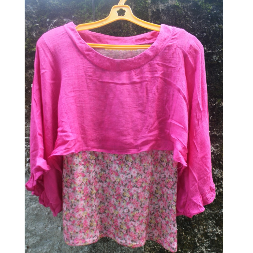 2 layer Pink Top