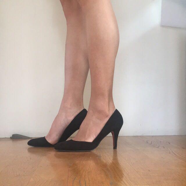 全新高跟黑鞋37號