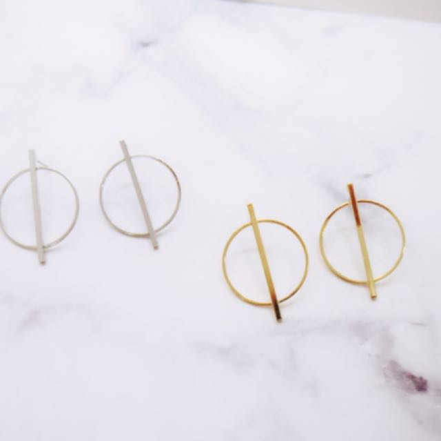 韓版個性幾何圖形耳環