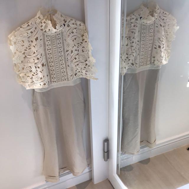 全新時尚白色洋裝👼🏻