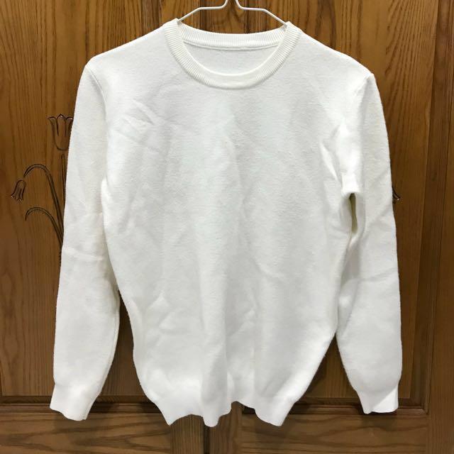白色純白毛衣
