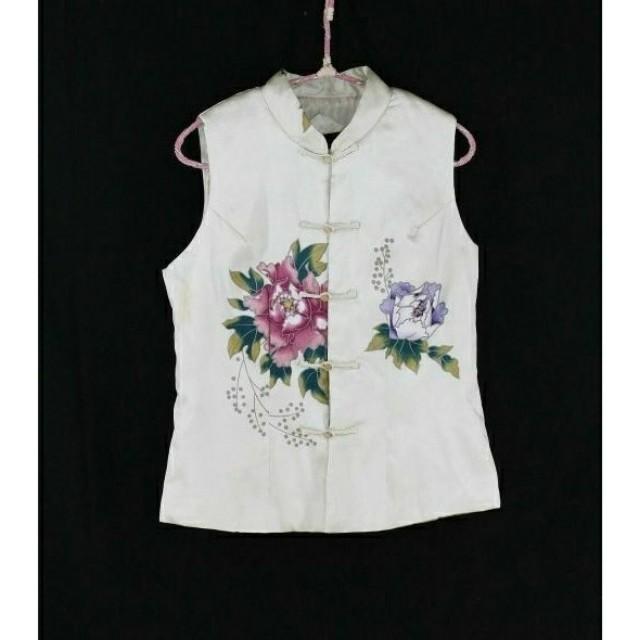 大出清~不議價…※專櫃品牌※【HUA SHAO】印花棉襖背心外套