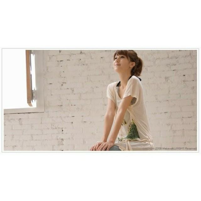 大出清~不議價…可愛女孩塗鴉抽繩設計長版上衣 #有超取最好買