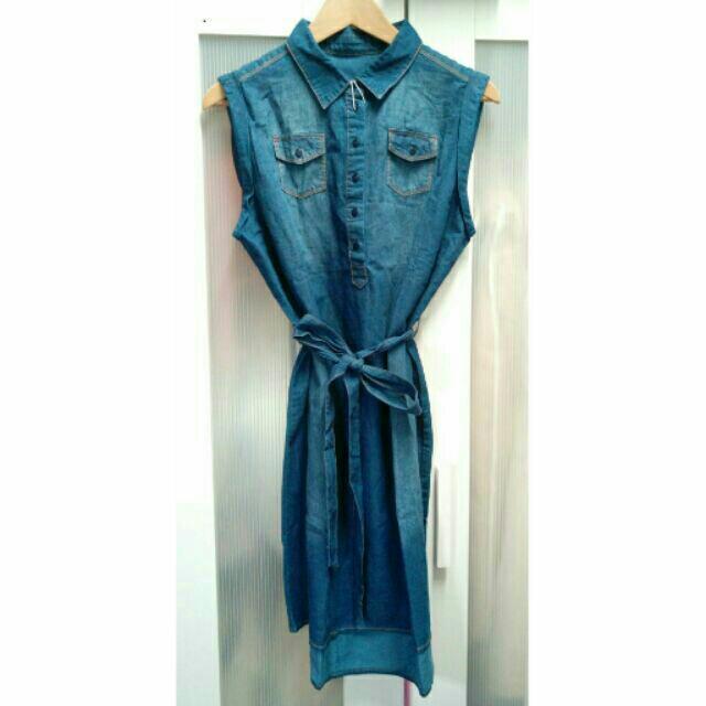 全新 無袖牛仔洋裝 原價980元 丹寧洋裝