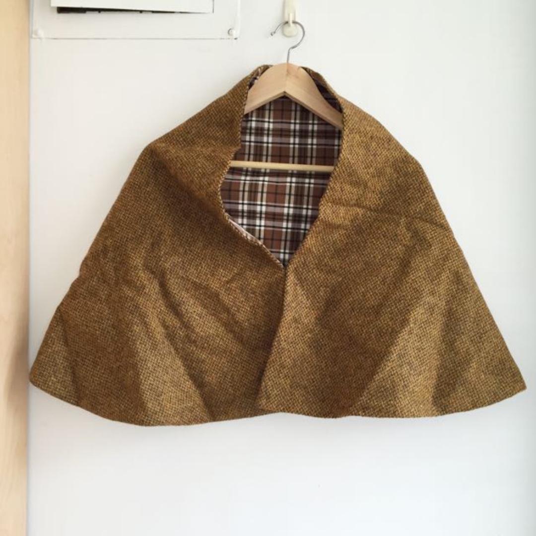 全新 日本帶回 毛料雙面披肩圍巾