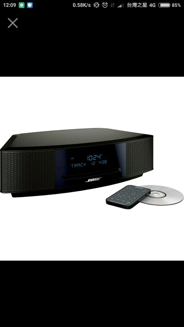 (全新 現貨 刷卡) BOSE Wave music system IV 銀色 黑色 音響 喇叭 廣播 美國 原廠 觸控