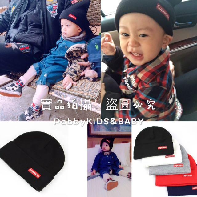 嬰兒 小孩款 親子Supreme毛帽