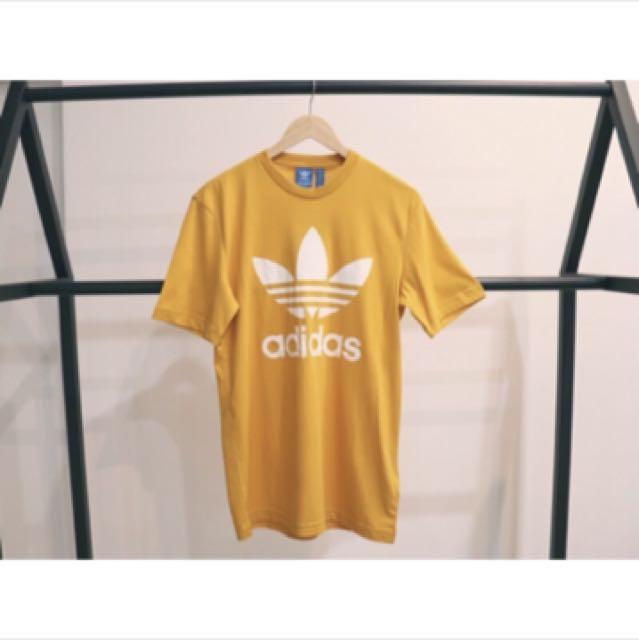 愛迪達 Adidas OG 芥末黃 短袖上衣
