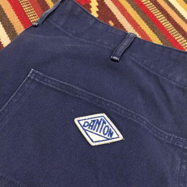法國品牌 DANTON 工作褲 寬褲 休閒褲 重磅 海軍藍 畫家褲 ivy 學院 復古 古著 日本購入 海軍