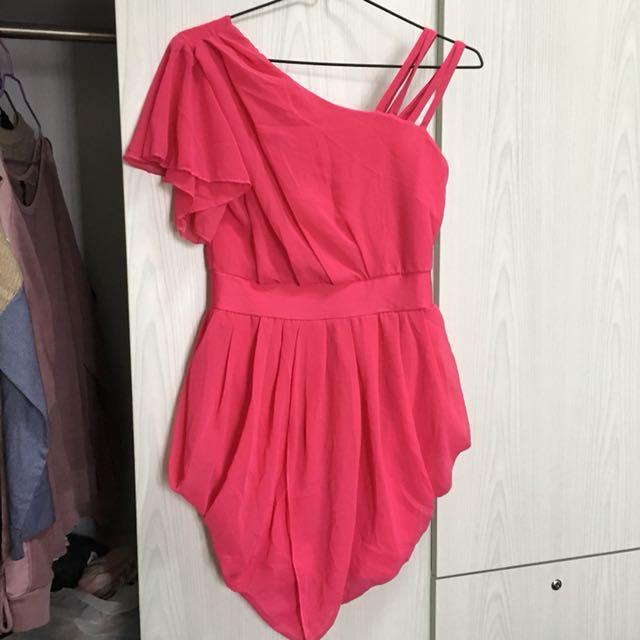 桃紅色晚禮服 grad din裙