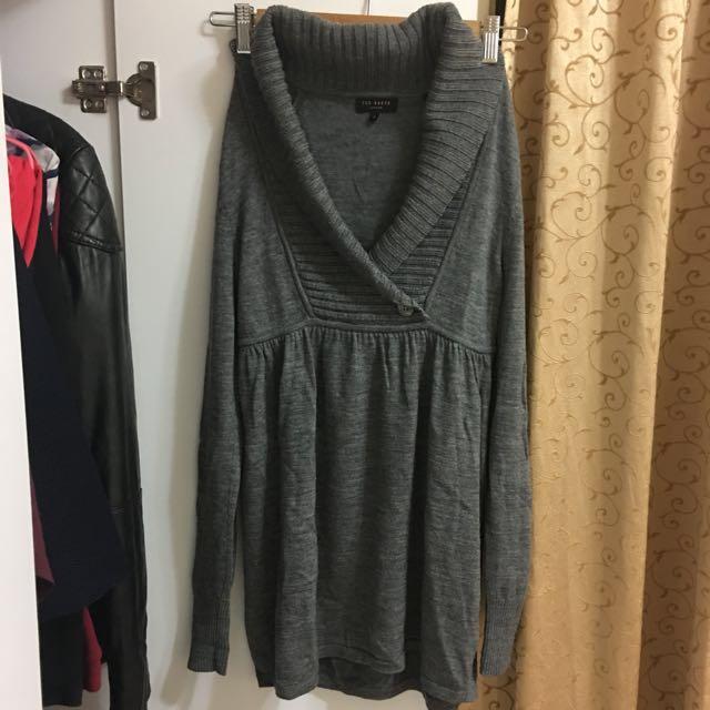 英國 TED BAKER 長版針織毛衣 羊毛洋裝