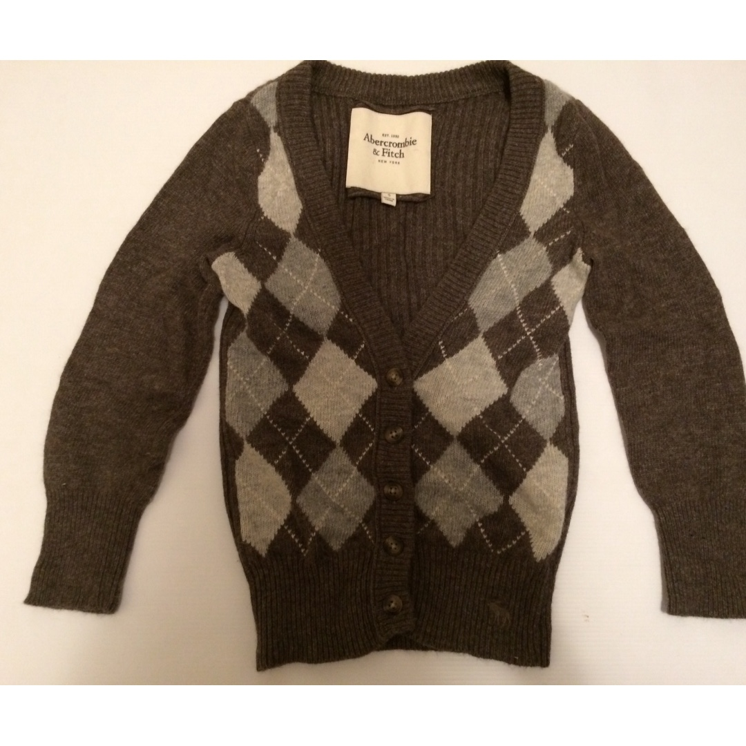 ABERCROMBIE & FITCH Super Soft Wool Blend Argile Cardigan - Size Small