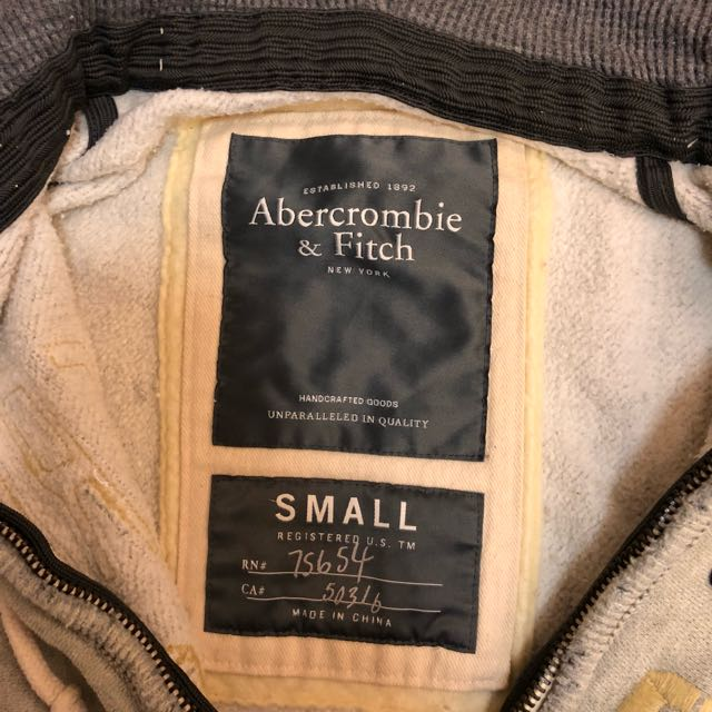 Abercrombie and Fitch Grey Hoodie Top
