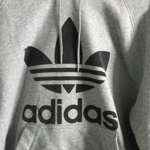 ADIDAS grey hoodie medium