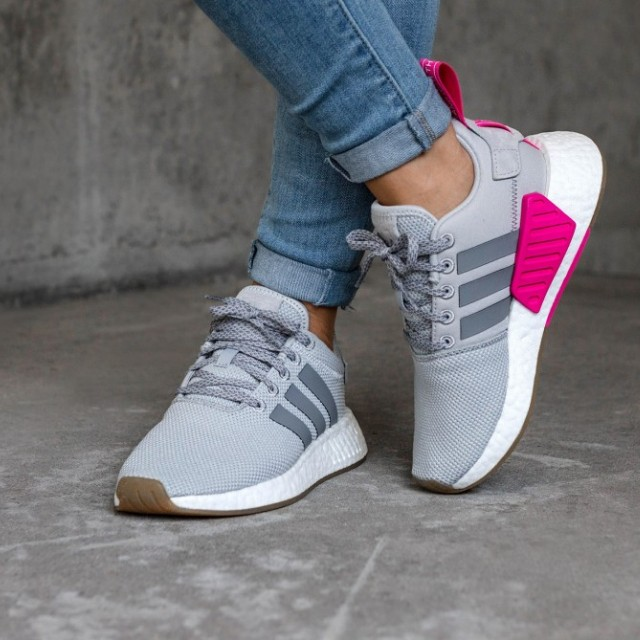 47c9bdfff64f1 Adidas NMD R2 PK Grey Two Shock Pink