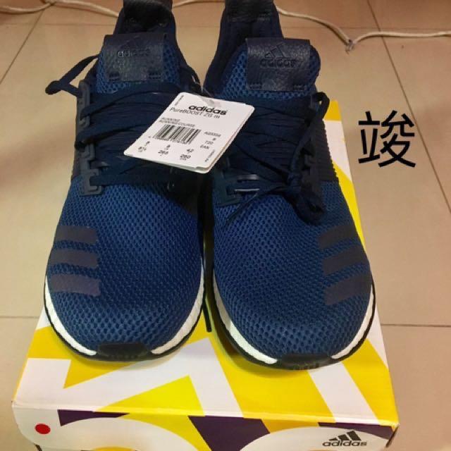 Adidas Pure boost 深藍 慢跑鞋 訓練鞋 舒適好穿 百搭時尚 全新 US 8.5