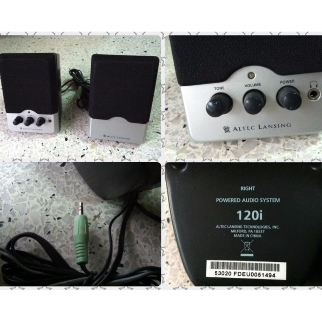 ALTEC LANSING 120i 6 Watts 2 0 Speaker