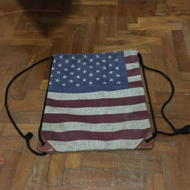 American Flag Drawstring Bag 54e0135d5