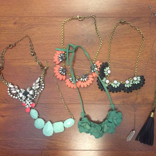 Assortment of costume jewelry (j crew, boutiques etc)