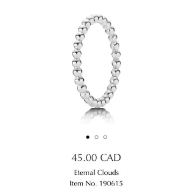 Authentic Pandora Eternal Clouds Ring