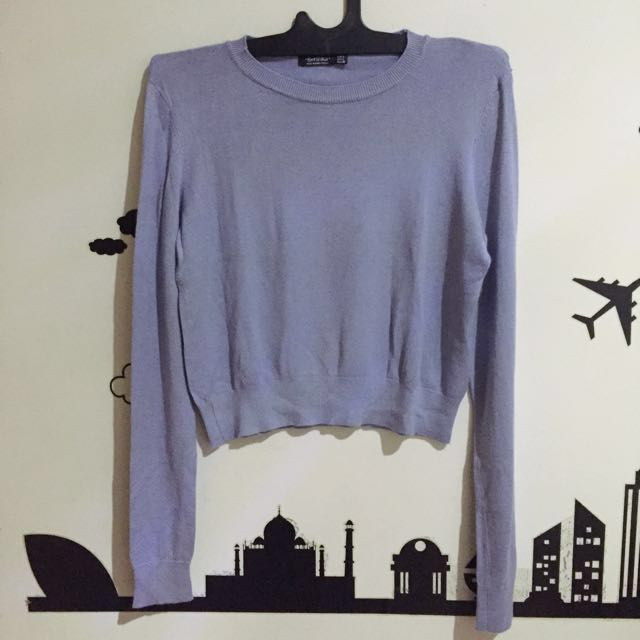 Bershka Cropped Viscose Jumper