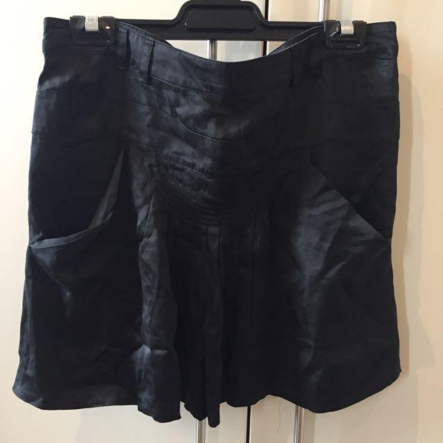 Black 100% Silk Skirt