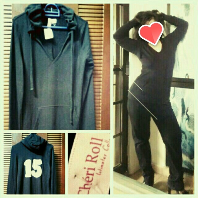 Black Pullover Hoodie/ Sweater with Hood