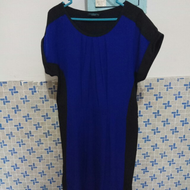Contempo Blue & Black Dress