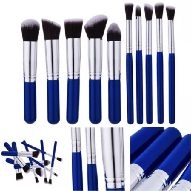 Blue brush set