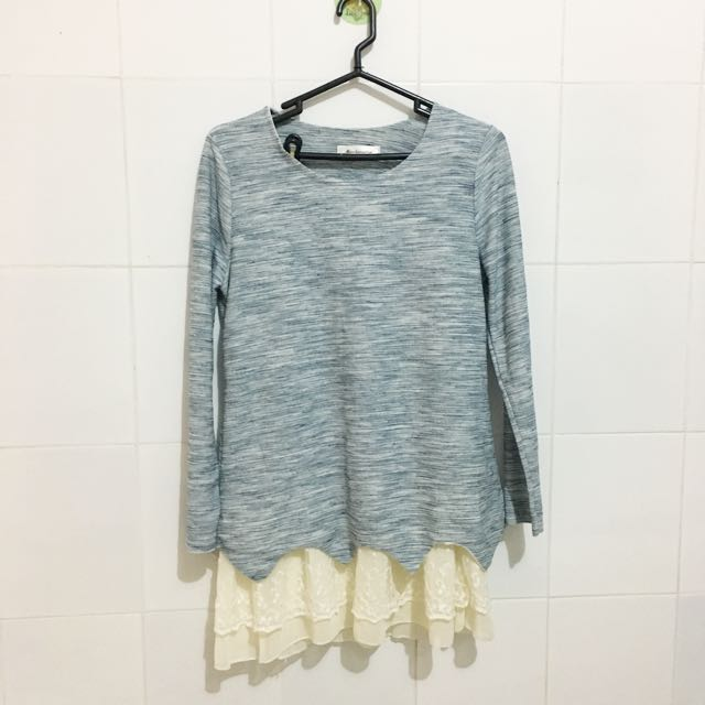 Blue korean sweater