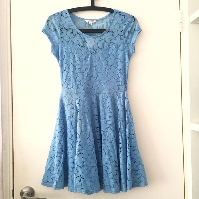 Blue Lace Dress AU8
