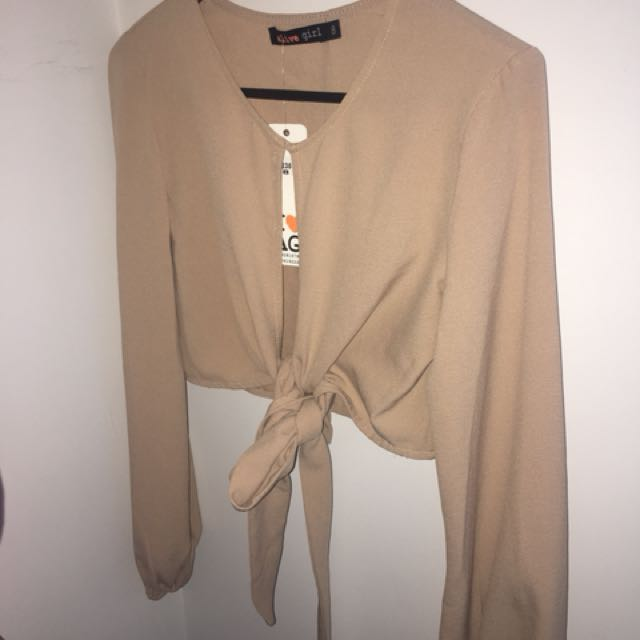 BNWT nude cut out top